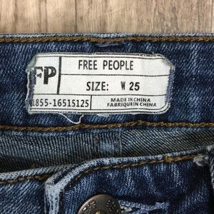 Free People Jeans - Free People Raw Released Hem Skinny Jeans IQ01